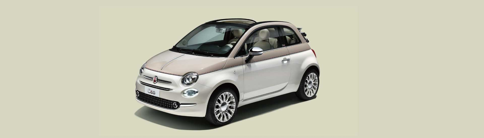 fiat 500c 60th anniversary autoriesen. Black Bedroom Furniture Sets. Home Design Ideas